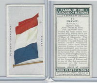 P72-97 Player, Flags League Nations, 1928, #19 France