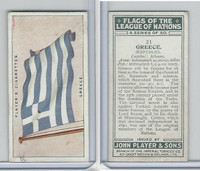 P72-97 Player, Flags League Nations, 1928, #21 Greece