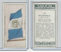 P72-97 Player, Flags League Nations, 1928, #22 Guatemala