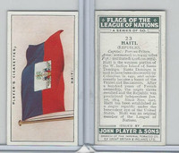 P72-97 Player, Flags League Nations, 1928, #23 Haiti