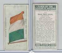 P72-97 Player, Flags League Nations, 1928, #26 Irish Free State
