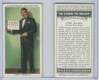C82-58 Churchman, In Town Tonight, 1938, #1 Fred Archer, Living Wax Model