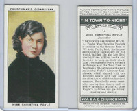 C82-58 Churchman, In Town Tonight, 1938, #14 Christina Foyle,  Bookseller