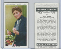 C82-58 Churchman, In Town Tonight, 1938, #16 Miss Gibbs,  Floral Buttonhole
