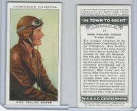 C82-58 Churchman, In Town Tonight, 1938, #18 Pauline Gower, Woman Aviator