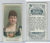 W62-90a Wills, Musical Celebrities, 1912, #36 Madame Albani