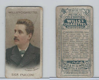 W62-90a Wills, Musical Celebrities, 1912, #39 Giacomo Puccini