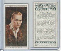 W62-125a Wills, Cinema Stars, 1928, #2 William Boyd