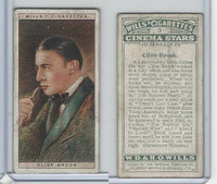 W62-125a Wills, Cinema Stars, 1928, #3 Clive Brook
