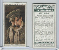 W62-125a Wills, Cinema Stars, 1928, #4 Syd Chaplin
