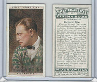 W62-125a Wills, Cinema Stars, 1928, #11 Richard Dix