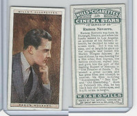 W62-125a Wills, Cinema Stars, 1928, #18 Ramon Novarro