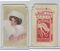 W62-0 Wills, Scissor Cigarettes, Beauties, 1890's