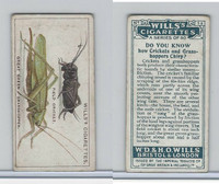 W62-127a Wills, Do You Know, 1922, #13 Crickets and Grasshoppers Chirp?