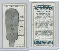 W62-127a Wills, Do You Know, 1922, #22 Hall-Marks on Silver?