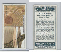 W62-127a Wills, Do You Know, 1922, #24 Knots and Grain in Wood?