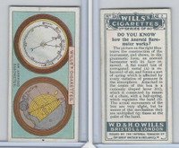 W62-127b Wills, Do You Know 2nd, 1924, #2 Aneroid Barometer works?