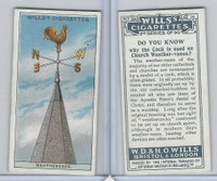 W62-127b Wills, Do You Know 2nd, 1924, #14 Church Weather-vanes?