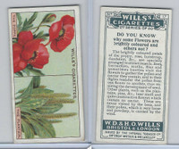 W62-127b Wills, Do You Know 2nd, 1924, #17 Flowers are brightly coloured