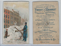 N281 Buchner, American Scenes Policeman, 1889, Scenes During Blizzard NY