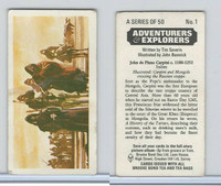 B0-0 Brooke, Adventurers & Explorers, 1973, #1 John de Plano Carpini