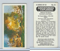 B0-0 Brooke, Adventurers & Explorers, 1973, #13 Sir Francis Drake