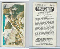 B0-0 Brooke, Adventurers & Explorers, 1973, #33 Robert Edwin Peary