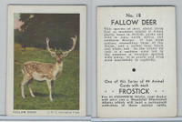 F55 Frostick, Animal Cards, 1933, #18 Fallow Deer