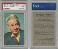 1953 Bowman, TV & Radio Stars NBC, #48 Arthur Hughes, PSA 7 NM