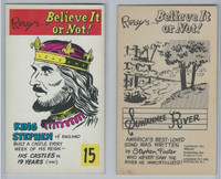 1962 Dynamic Toy, Ripleys Believe It, #15 King Stephen, England