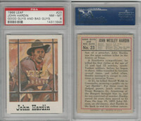 1966 Leaf, Good Guys and Bad Guys, #23 John Hardin, PSA 8 NMMT