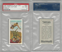 B0-0 Barratt, Tarzan, 1967, #37 Vaulting Capture, PSA 6 EXMT