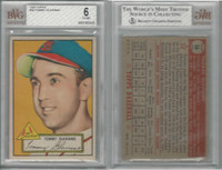 1952 Topps Baseball, #56 Tommy Glaviano, Cardinals, BVG 6 EXMT