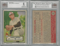 1952 Topps Baseball, #174 Clarence Marshall, Browns, BVG 6 EXMT