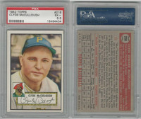 1952 Topps Baseball, #218 Clyde McCullough, Pirates, PSA 5.5 EX+