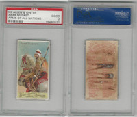 N3 Allen & Ginter, Arms of all Nations, 1887, Arab Musket, PSA 2 Good