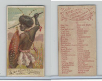 N3 Allen & Ginter, Arms of all Nations, 1887, Assagai