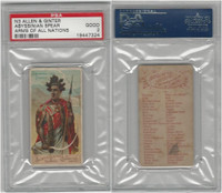 N3 Allen & Ginter, Arms of all Nations, 1887, Abyssinian Spear, PSA 2 Good