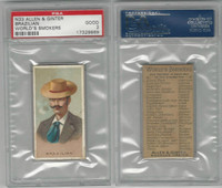 N33 Allen & Ginter, Worlds Smokers, 1888, Brazilian, PSA 2 Good