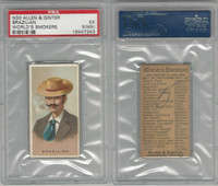 N33 Allen & Ginter, Worlds Smokers, 1888, Brazilian, PSA 5 MK EX