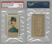 N33 Allen & Ginter, Worlds Smokers, 1888, Austrian Soldier, PSA 4 MC VGEX