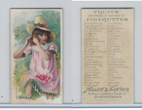 N12 Allen & Ginter, Fruits, 1891, Cherries
