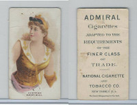 N388 Admiral Cigarettes, National Types, Sailor Girls, 1890, Austria
