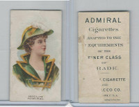 N388 Admiral Cigarettes, National Types, Sailor Girls, 1890, Brazil