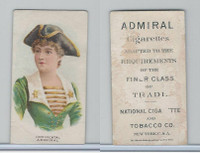 N388 Admiral Cigarettes, National Types, Sailor Girls, 1890, Continental USA