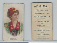 N388 Admiral Cigarettes, National Types, Sailor Girls, 1890, Egypt