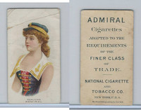 N388 Admiral Cigarettes, National Types, Sailor Girls, 1890, Peru