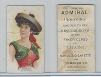 N388 Admiral Cigarettes, National Types, Sailor Girls, 1890, Spain