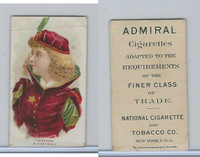 N388 Admiral Cigarettes, National Types, Sailor Girls, 1890, Venetian