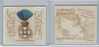 N44 Allen & Ginter, World's Decorations, 1890, #10 Order Crown Wurtemburg